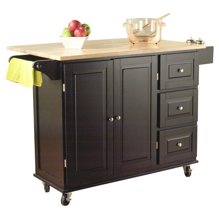 Hardiman Kitchen Cart | Small kitchen cart, Kitchen island ...