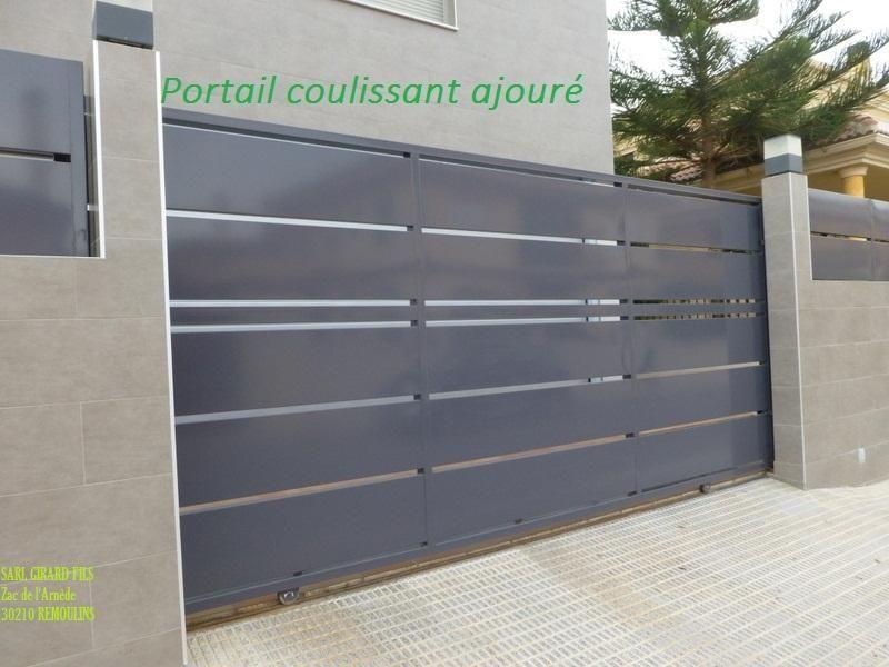 Portail Coulissant Acier Galvanis  Recherche Google  Portail