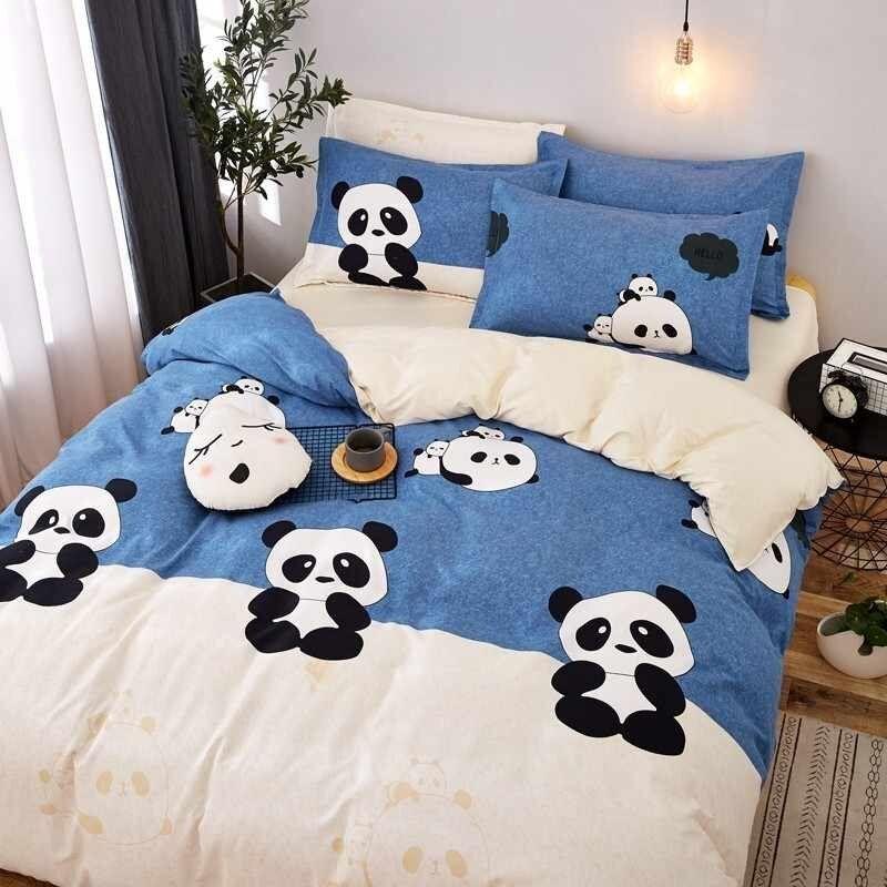 Panda Bed Sheet Bedding Set Bedding Sets Bed