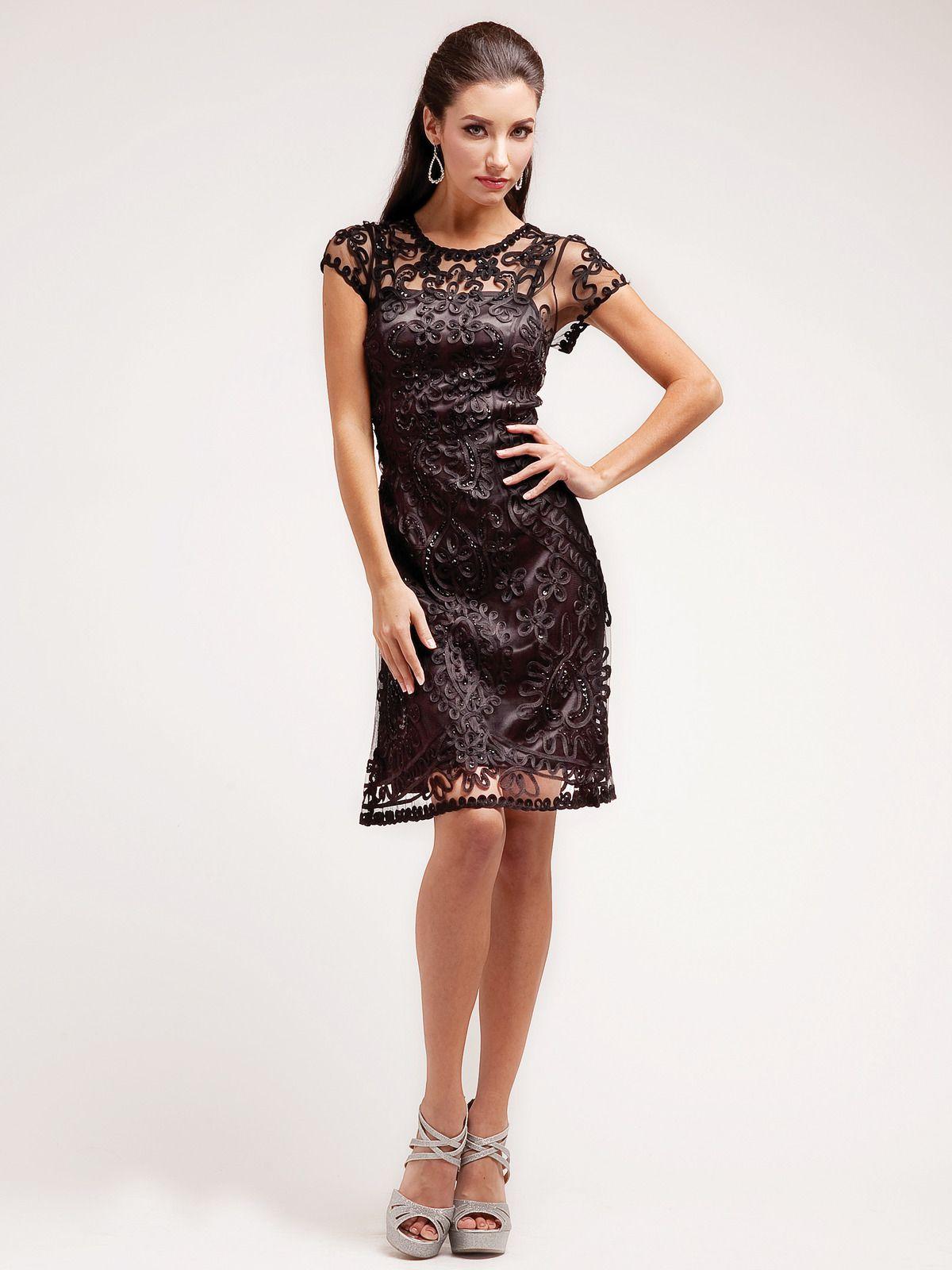 Lace Sheath Cocktail Dress | Sung Boutique L.A. | Cocktail Dresses ...