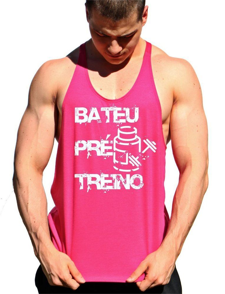 09b9d0e07 ... Masculina de Marombada Moda Fitness. Regata Cavada Bateu Pré Treino