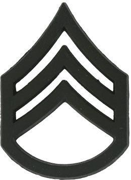 E-6 Rank   ... > Military Rank > Black Metal Rank Staff Sergeant E ...