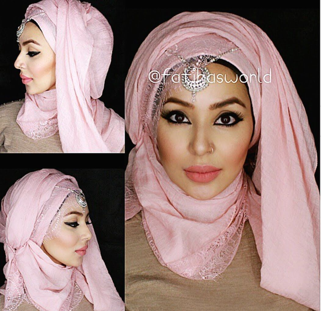 3 Party Hijab Styles Hood Effect And Turban Ish Style By
