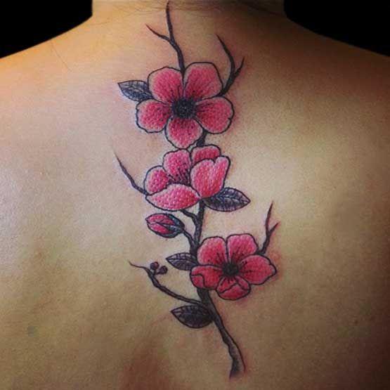 Rama Flores De Cerezo Tatoo Tatuajes Diseños De Tatuaje De