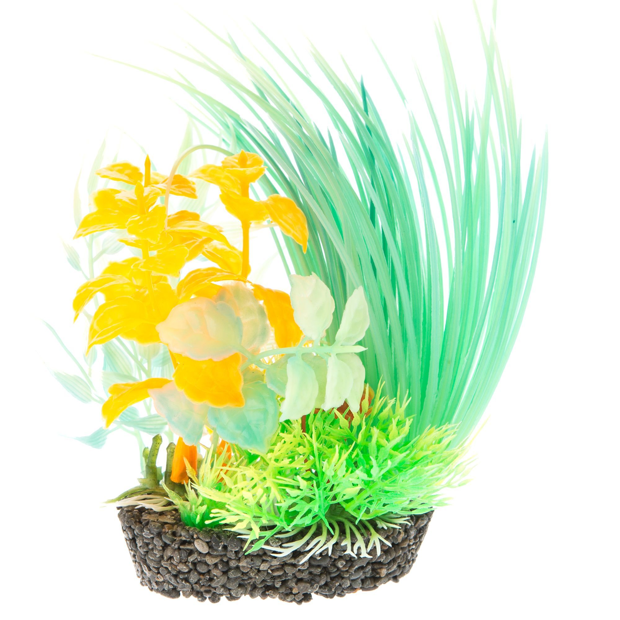 Top Fin Green And Orange Aquarium Plant In 2020 Planted Aquarium Fish Tank Accessories Plants
