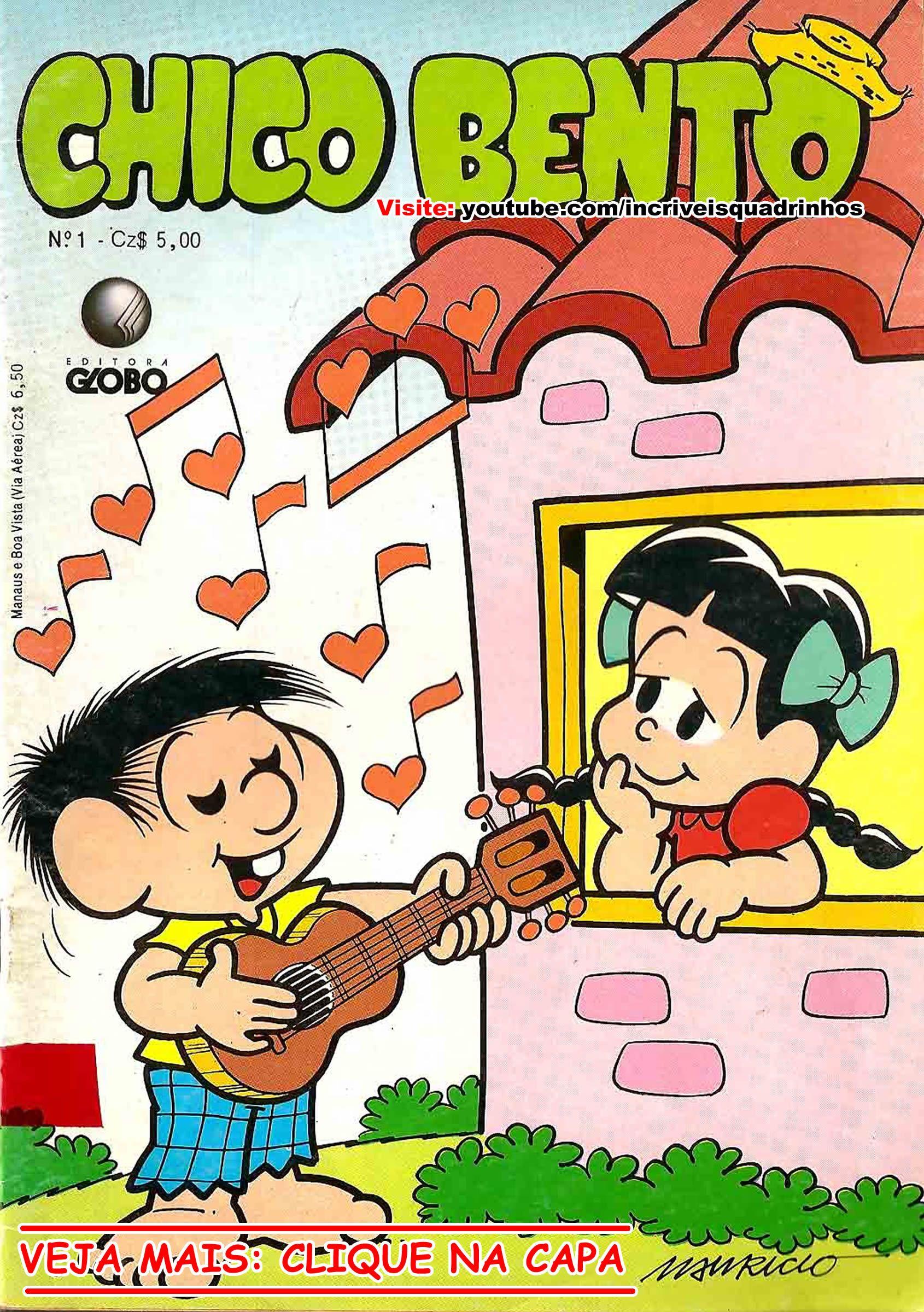 Revista Em Quadrinhos Do Chico Bento Nº 1 Editora Globo