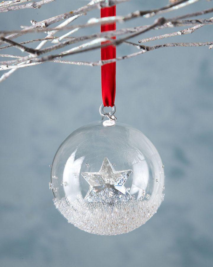 SWAROVSKI 2014 Annual Crystal Ball Christmas Ornament
