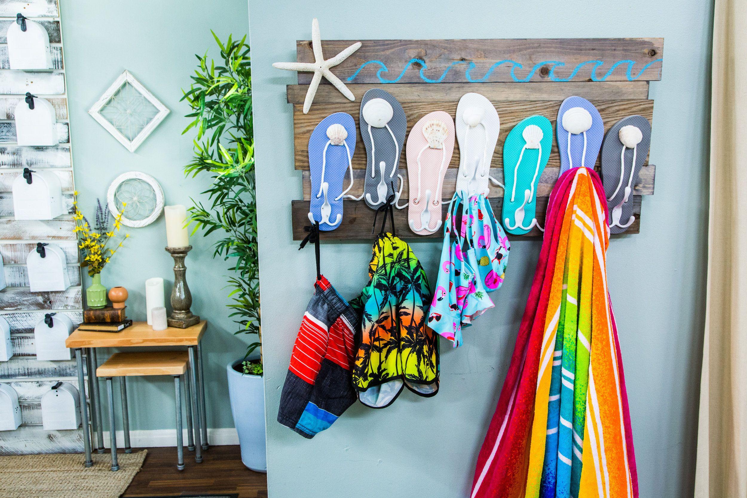 DIY Flip Flop Beach Towel Rack Home & Family Hallmark