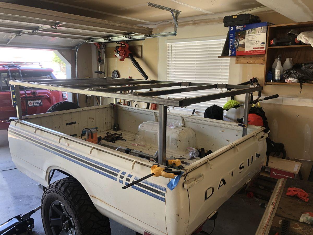 Jesse's custom DIY No Weld roof top tent rack is starting