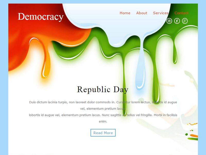 Democracy Free Bootstrap Template For Newsletter Is A Seasonal - Bootstrap newsletter template