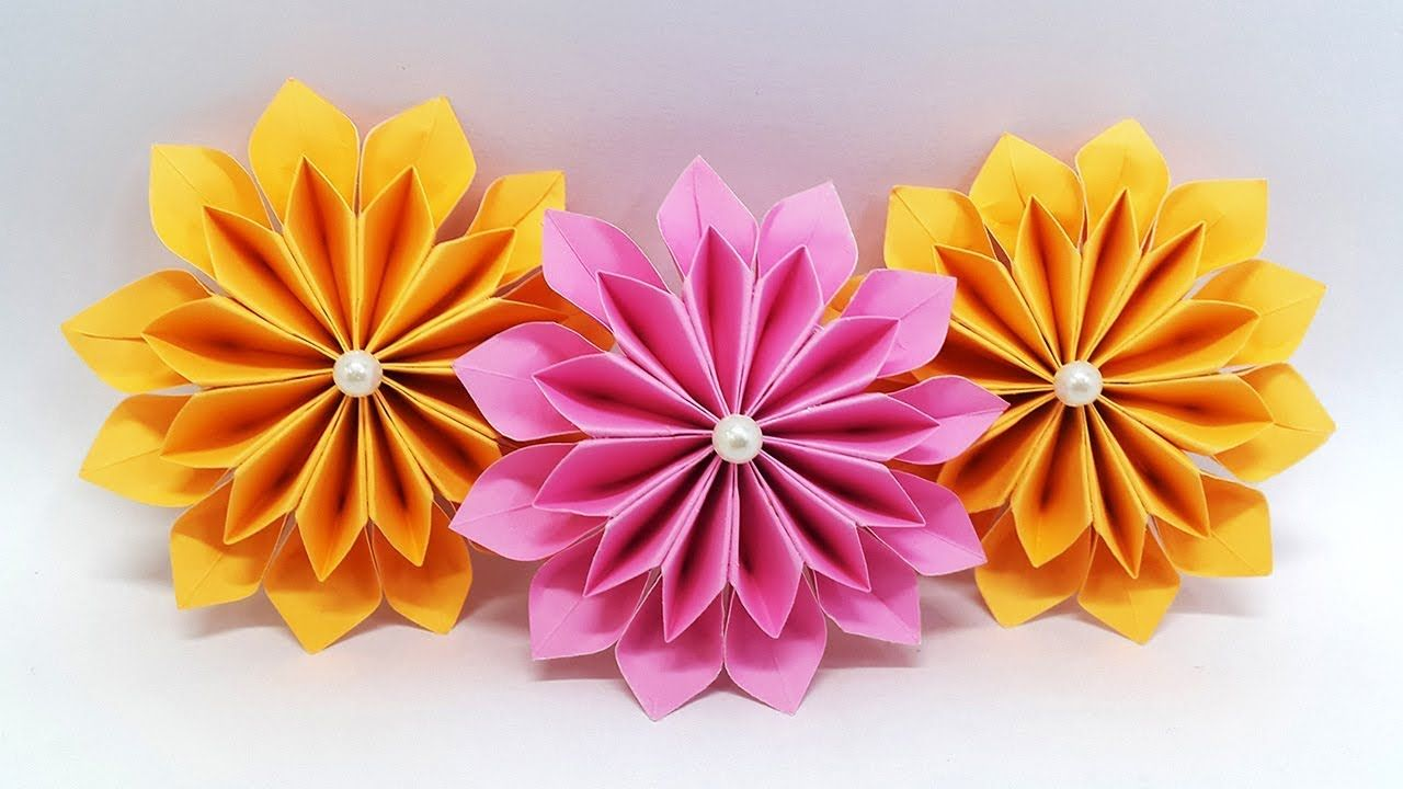 Photo of DIY Paper Flowers easy making tutorial (Origami Flower) – Paper Crafts Ideas