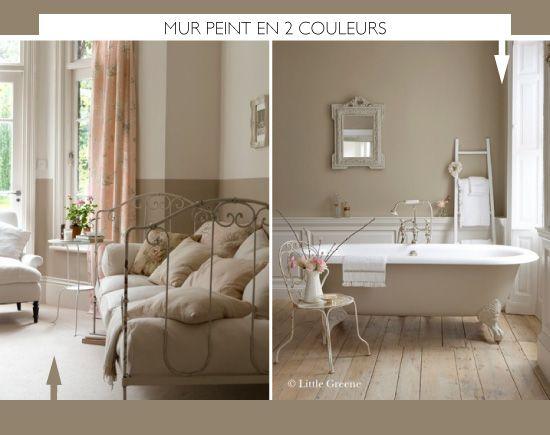 peindre le mur en 2 couleurs home deco peindre mur. Black Bedroom Furniture Sets. Home Design Ideas