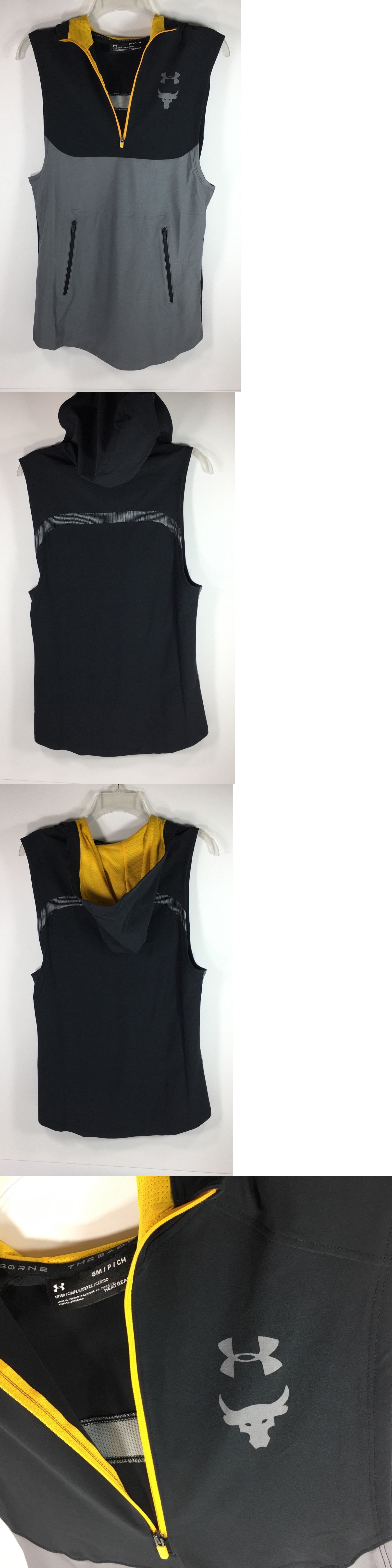 eaa19d903b93ac Activewear Tops 185076  Under Armour Project Rock Vanish Sleeveless Training  Hoodie Vest Mens Size -  BUY IT NOW ONLY   45 on  eBay  activewear  under  ...
