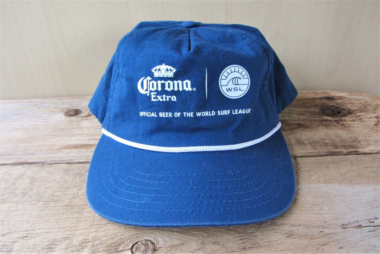 Corona Extra Beer Vintage Snapback Hat World Surf League Wsl Rope Lined Baseball Cap Cerveza Beverage Minimal Surfing Ballcap One Size Fits World Surf League Hat World Snapback Hats