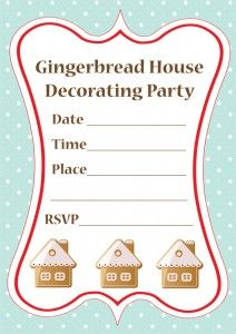Host a Gingerbread House Decorating Party!