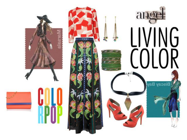 """""""COLORBLASTER"""" by sahelirima ❤ liked on Polyvore featuring Temperley London, L.K.Bennett, Michael Antonio, Fendi, Mallary Marks and Child Of Wild"""