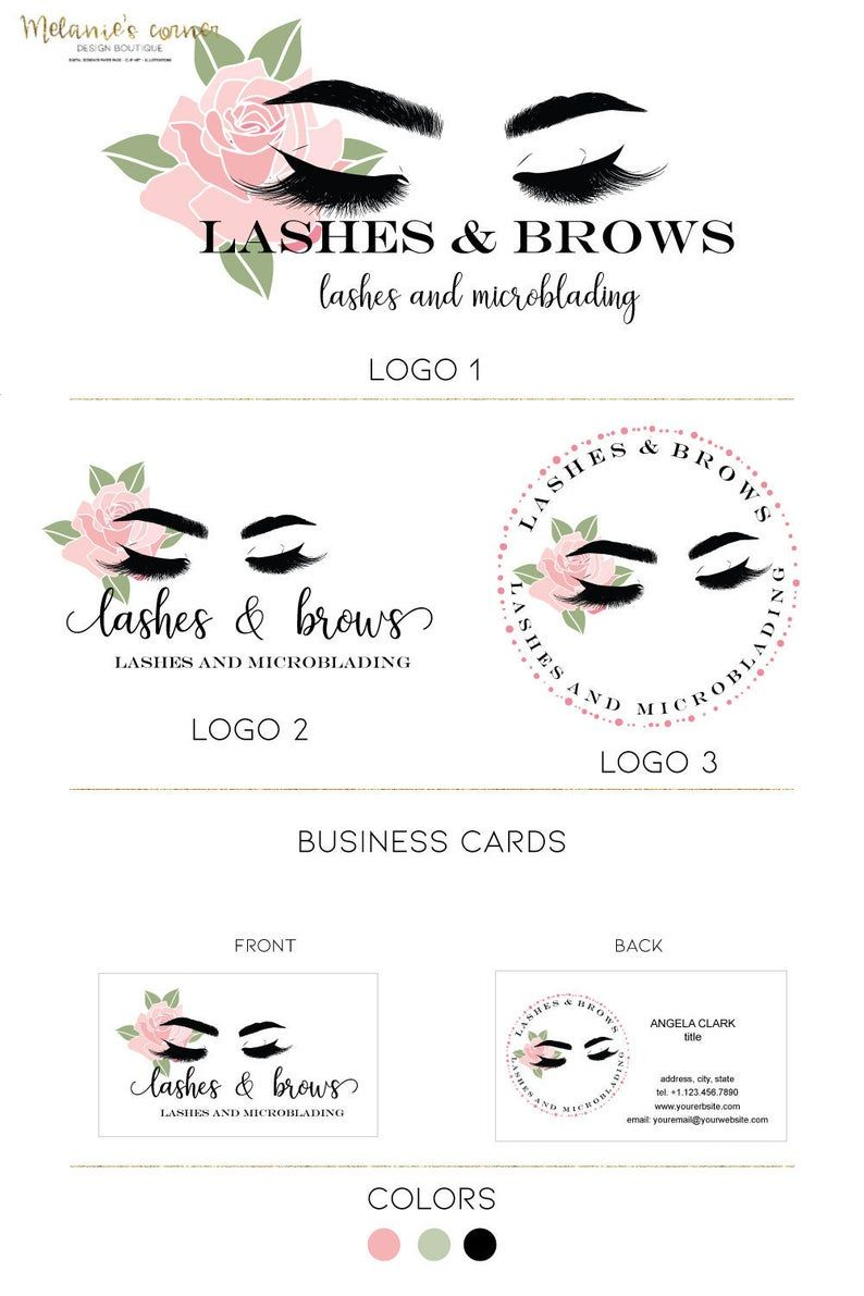 Eyelashes logo Lash extensions artist logo Makeup artist