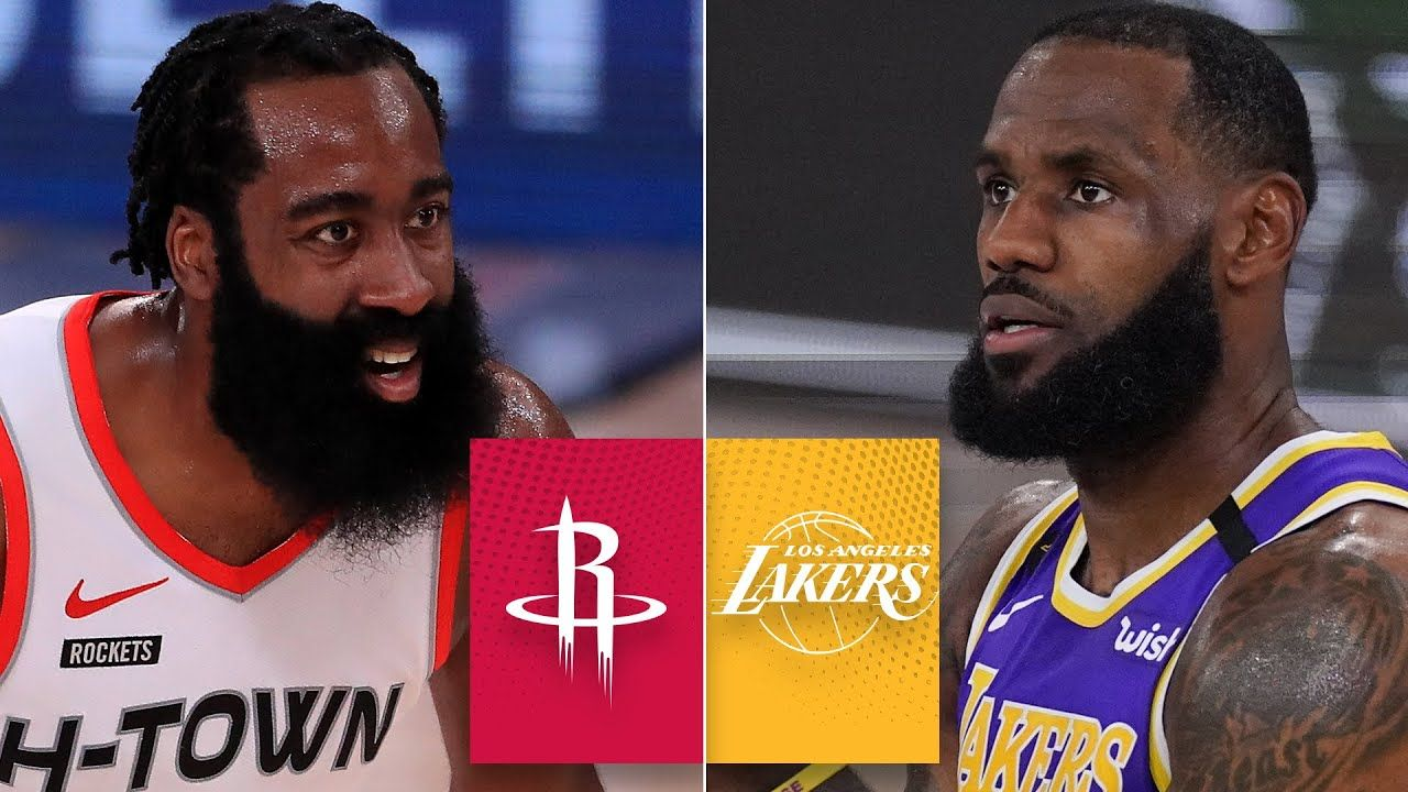 Houston Rockets Vs Los Angeles Lakers Game 1 Highlights 2020 Nba Playoffs Youtube In 2020 Los Angeles Lakers Houston Rockets Lakers Game