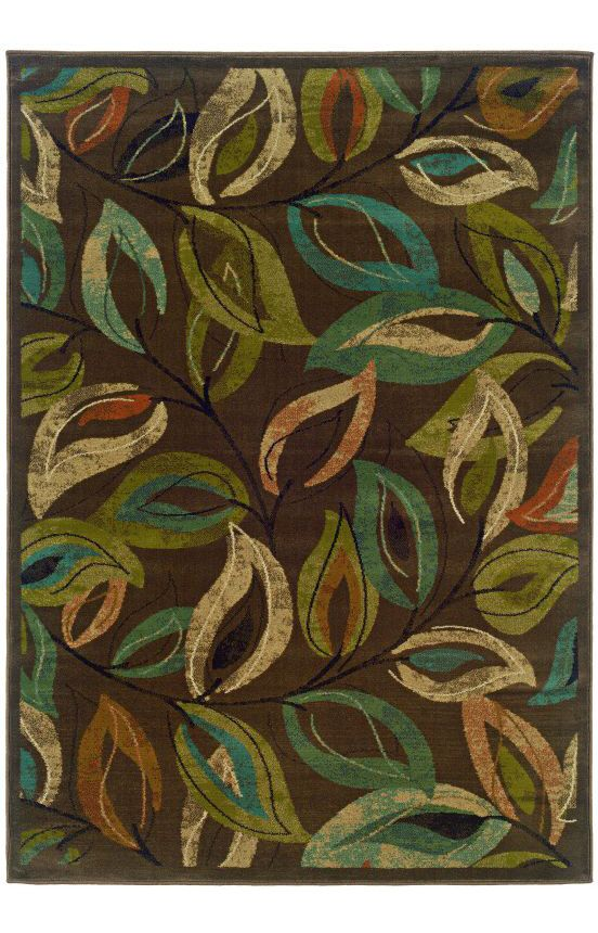 Luxor Kingdom Contemporary Brown Rug Colorful rugs