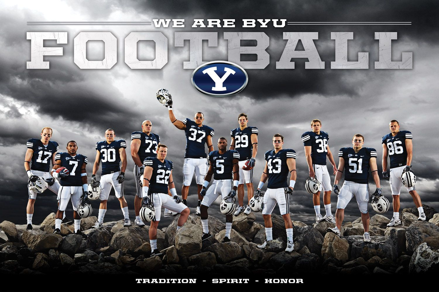 2010 Byu Football Schedule Poster Senior Football Banners Football Team Pictures Byu Football