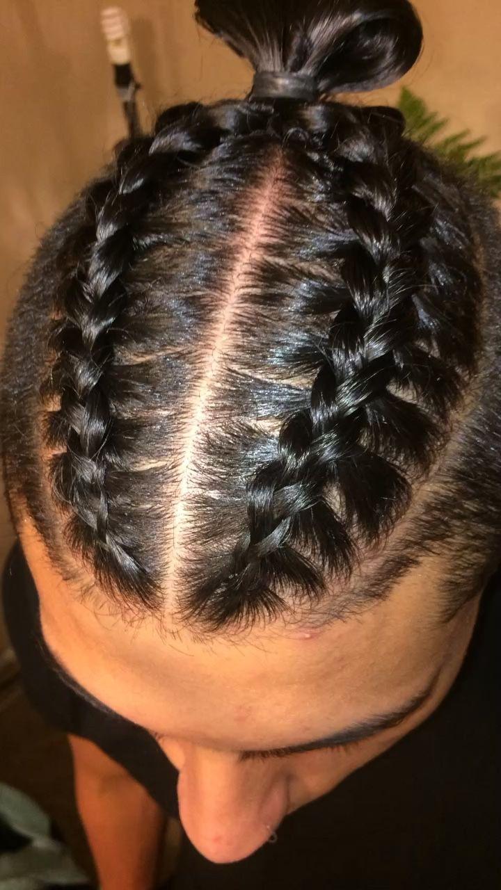 30 Dazzling Braided Bun For Men Men Braid Hairstyles Kids Braided Hairstyles Hair Styles Braided Bun Hairstyles