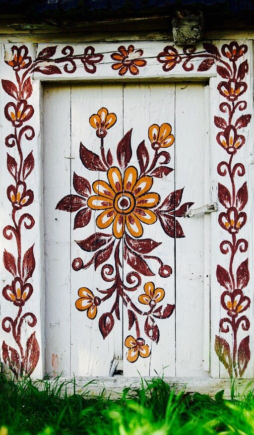 Zalipie Malowana Wies Zalipie Painted Village Painted Doors Unique Doors Polish Folk Art