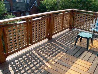 cedar lattice panel railing idea | Lattice deck, Deck ...