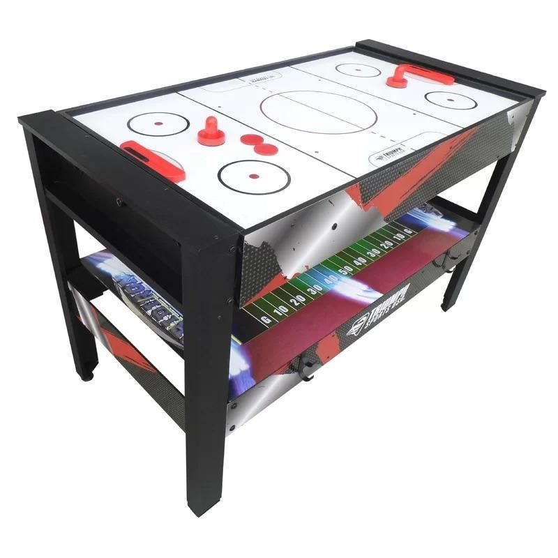 Multi Game Swivel Table 4 In 1 48 Air Hockey Pool Table Tennis Football With Built In Storage B36 In 2021 Multi Game Table Table Games Game Room Furniture