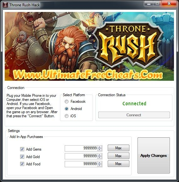 Throne Rush Hack Engine 2014 Download Free Http Thenetland Com Throne Rush Hack Unlimited Gems Cheats Engine Facebook Android Tool Hacks Hacks