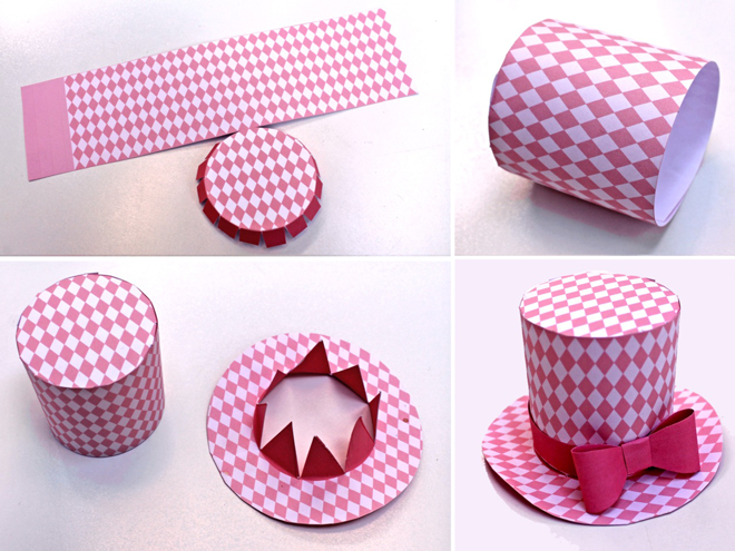 how to make a paper top hat easy