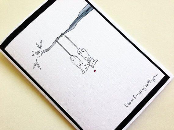 possum love greeting cardsupatoon on etsy 400