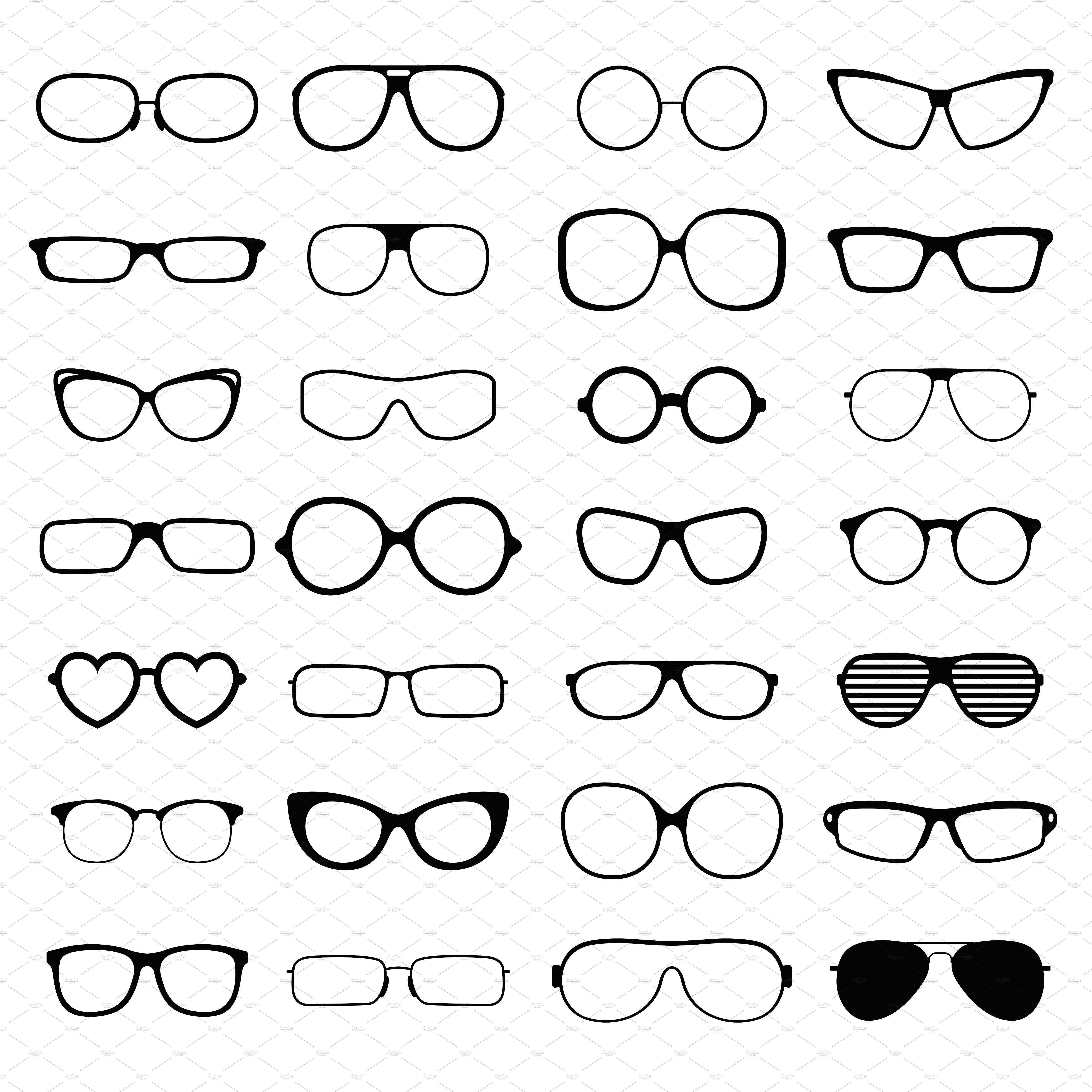 ca454d3812b Black fashion glasses silhouette by Vectorstockersland on  creativemarket
