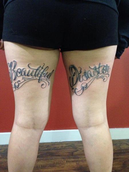 Beautiful Disaster Tattoo Ideas : beautiful, disaster, tattoo, ideas, Beautiful, Disaster, Lettering, Tattoos,, Tattoos, Women