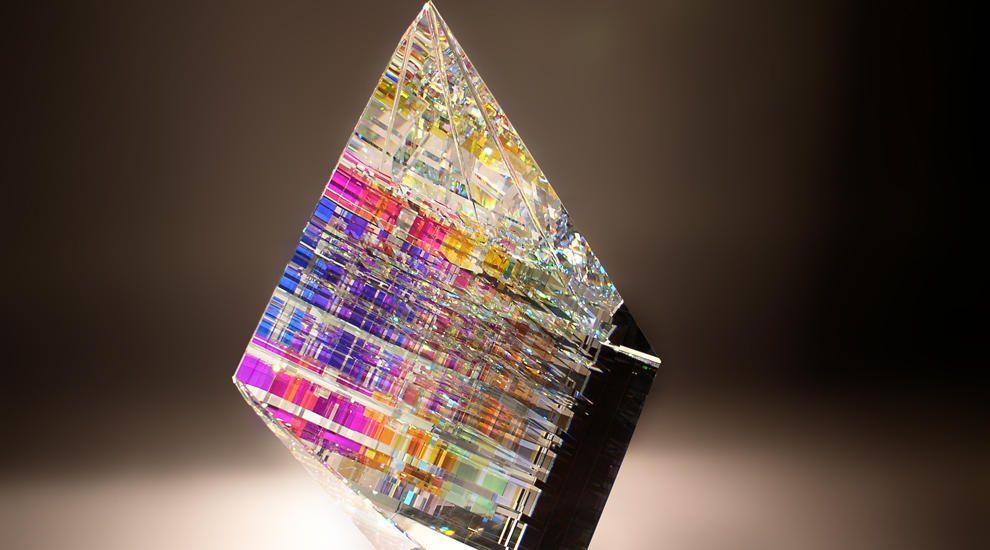 Lead Glass Sculpture By Jack Storms Glass Sculpture Glass Art