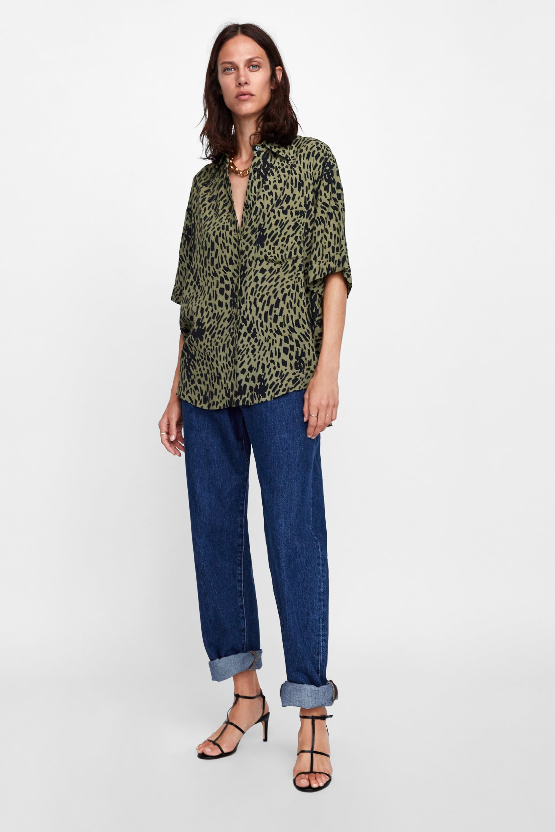2ce4d184 Image 1 of ANIMAL PRINT BLOUSE from Zara | Shopping: Clothes & Shoes ...