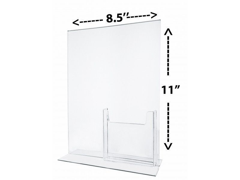 6 Combo Ad Frame 8 5 X 11 With Attached Tri Fold Brochure Holder Multi Pocket Marketingholders Trifold Brochure Brochure Holders Brochure