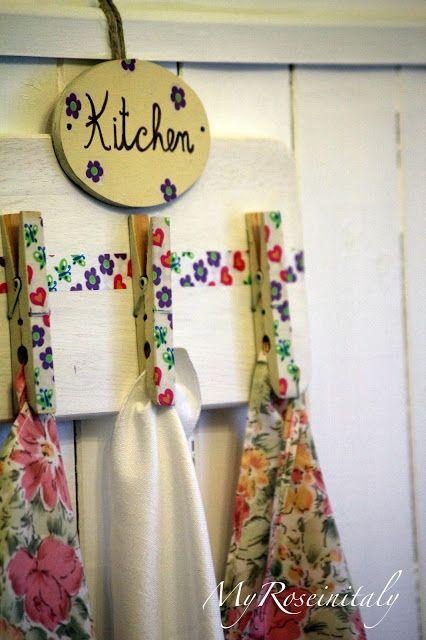 My RoseinItaly: Appendino da cucina fai da te | home and girls ...