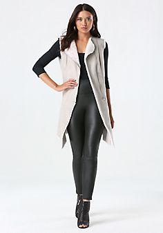 Bonded Faux Fur Vest