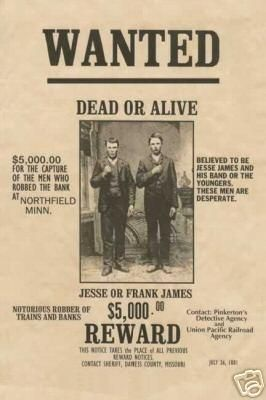 This Old Western   Example Of A Wanted Poster