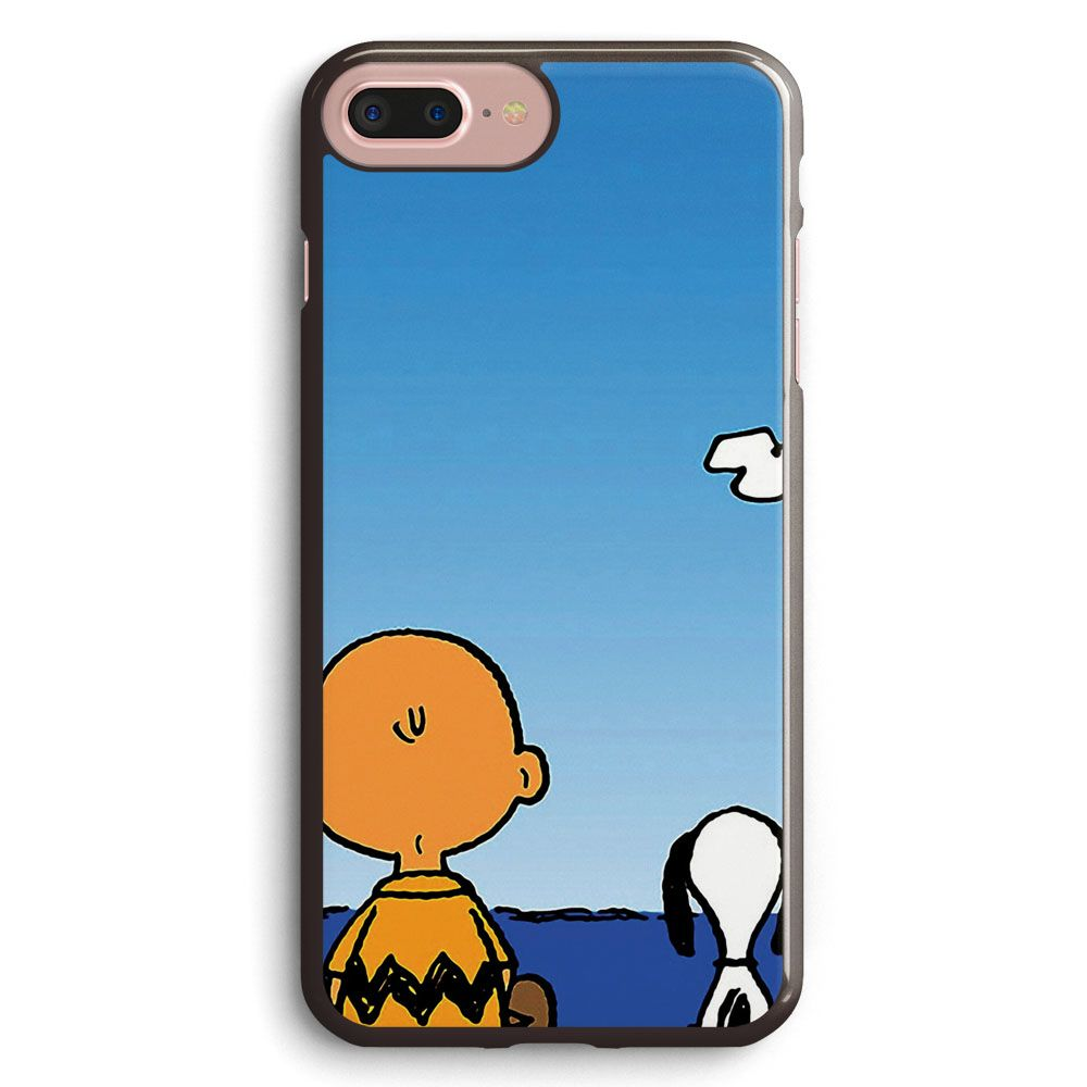 Snoopy Charlie on the beach iphone case