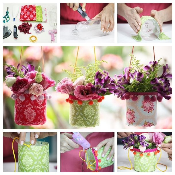 Wonderful diy pretty hanging vases from recycle bottle for Pretty plastic bottles