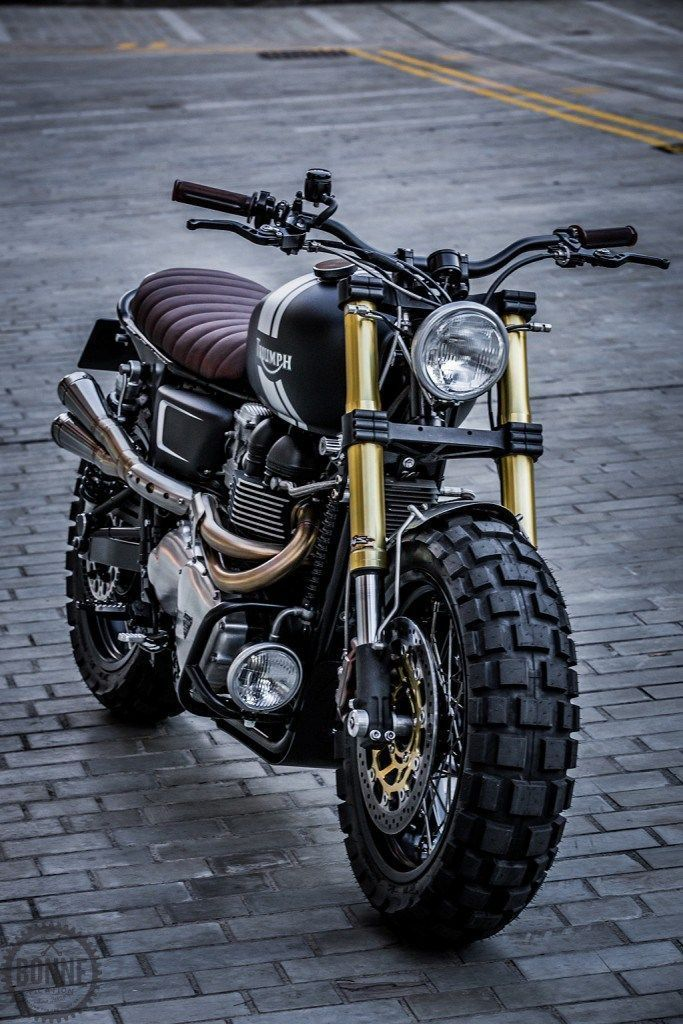 Photo of Down & Out Cafe Racers – Triumph Bonneville Scrambler
