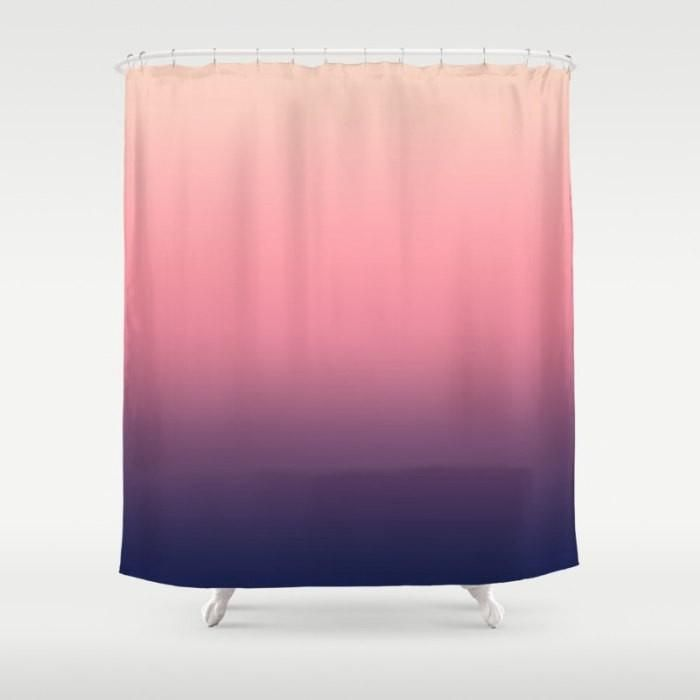 Fabric Shower Curtain, Pink Purple Ombre | Purple Ombre, Fabrics And  Products