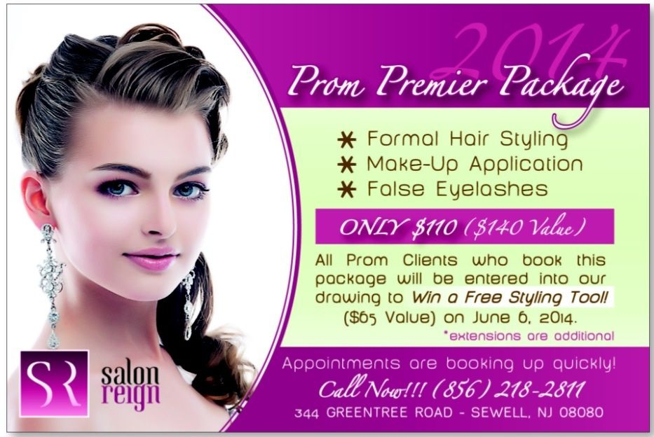 2014 Prom Premier Package Only 110 Includes Formal Hair Style Make Up Application And False Eyelashes Call 856 218 False Eyelashes Eyelashes Beauty Care