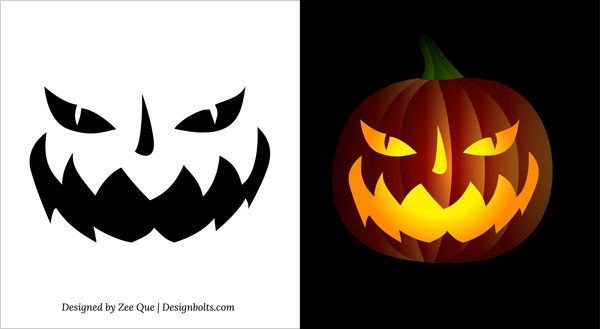 Scary Pumpkin Carving Faces Design Ideas & Patterns | pumpkin carving 2019 #pumkincarvingdesigns