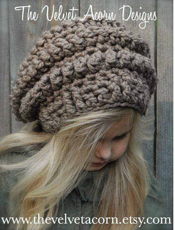 Crochet PATTERN-The Stormlyn Slouchy Toddler Child and | gorro ...