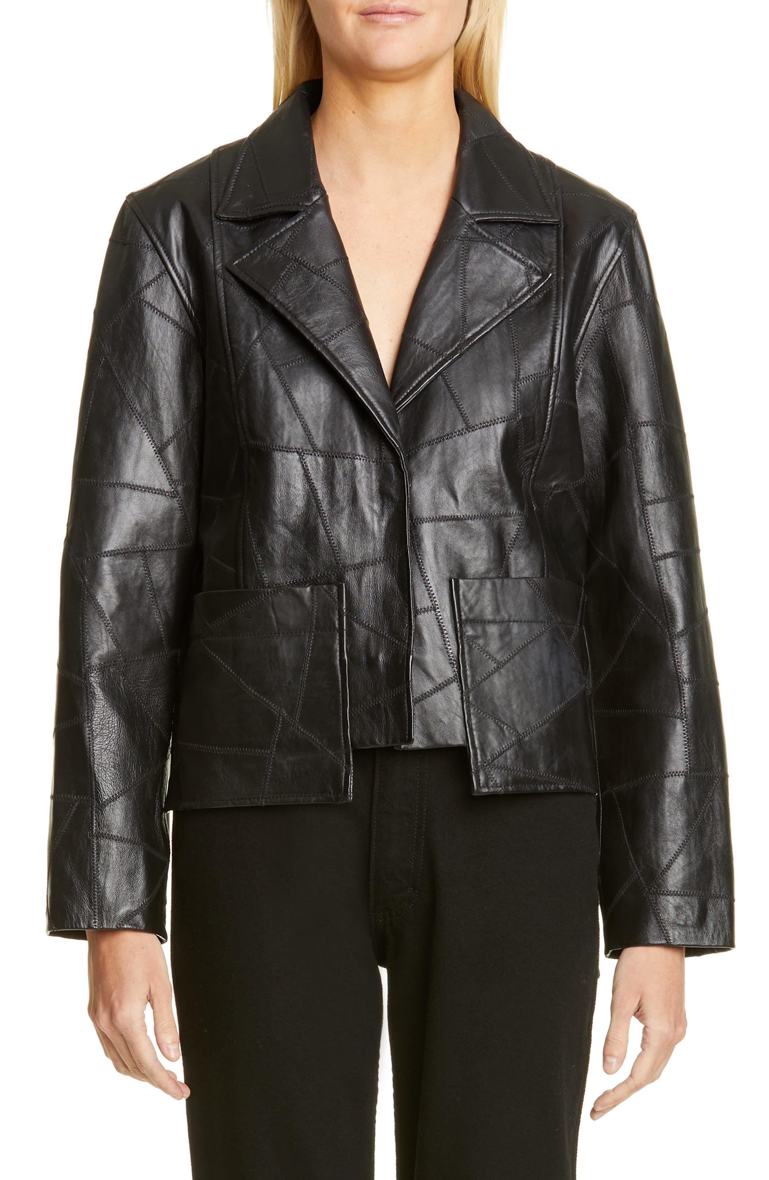 Ganni Patchwork Leather Jacket Nordstrom Klader [ 4048 x 2640 Pixel ]