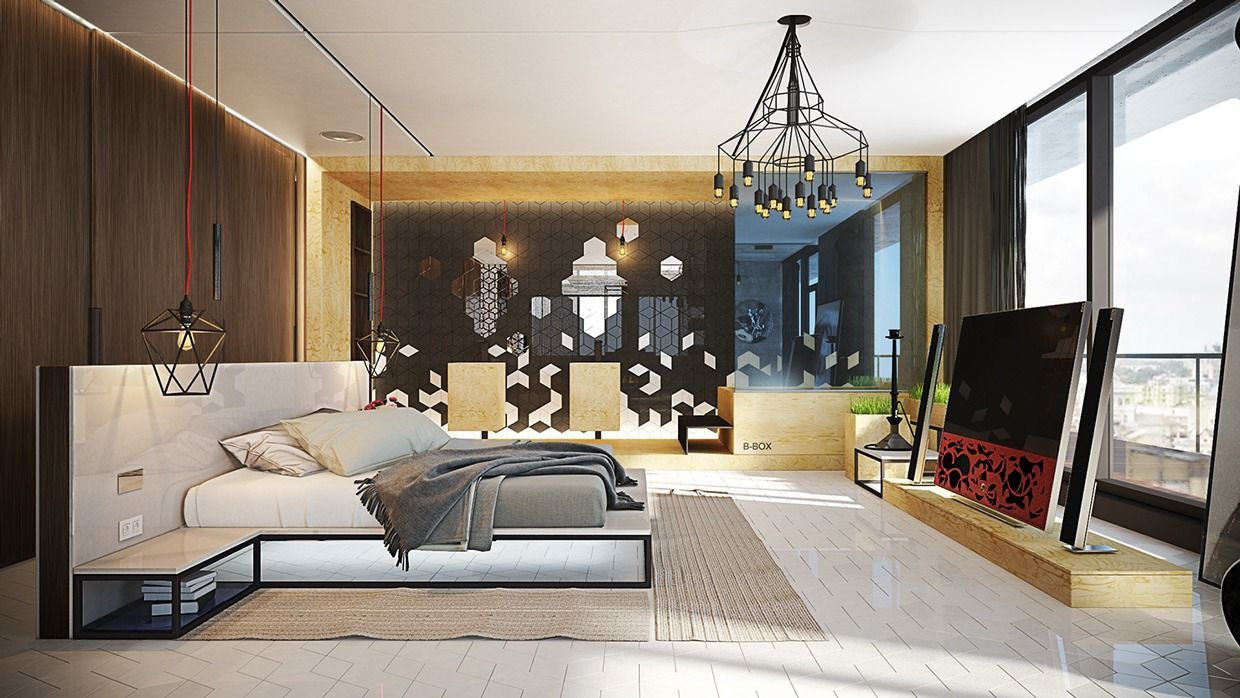 Designing Bedrooms The First Room Is A Spacious Urban Room With Bright City Views
