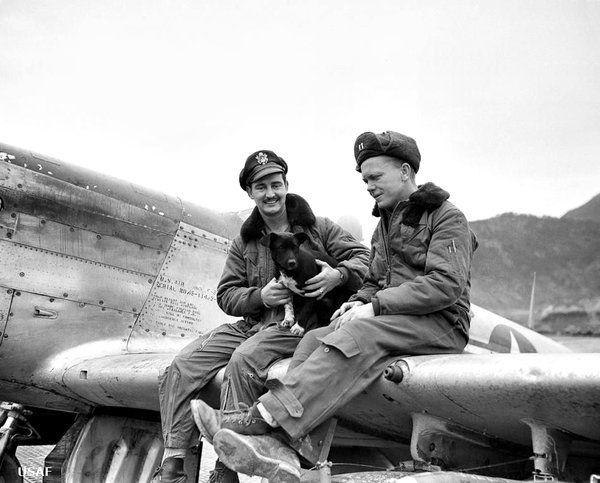 World Air Photo (@planenut27) | Twitter 2 USAF pilots in Korea wearing B-15 flight jackets with fur collars, K-1 flight suit and A-4 flight suit.