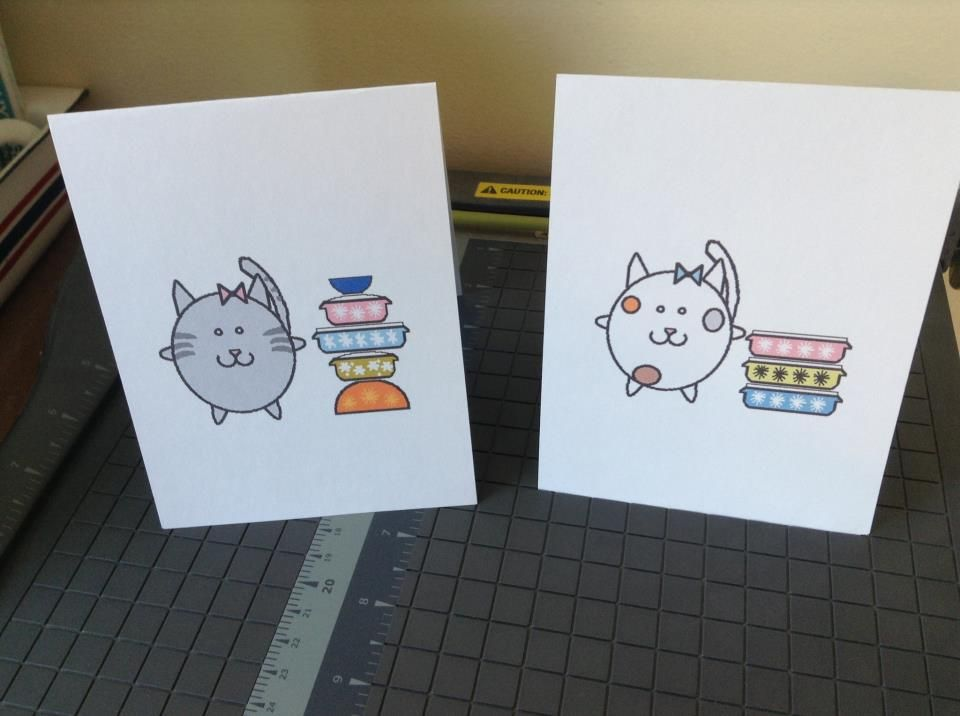 Kitty Pyrex Cards - order from Jen at Chickycards@gmail.com